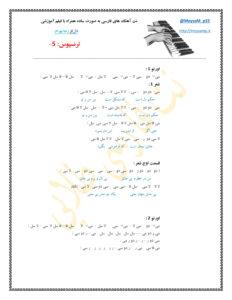 نت فارسی آهنگ دل از رضا بهرام صفحه 1