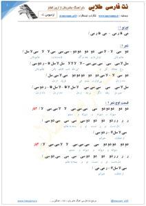 نت فارسی آهنگ جانم باش از آرون افشار صفحه 1